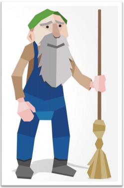 CoinJanitor Mascot